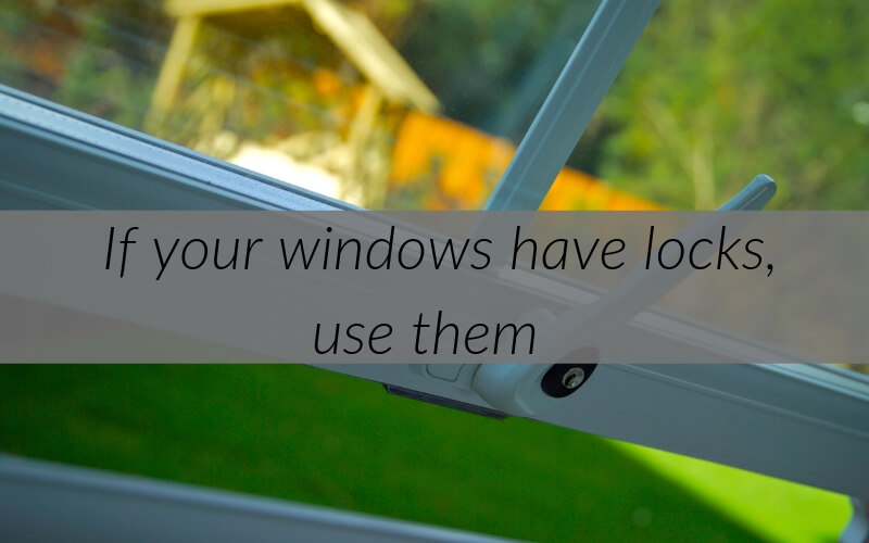 Tips to protect your window of thefts