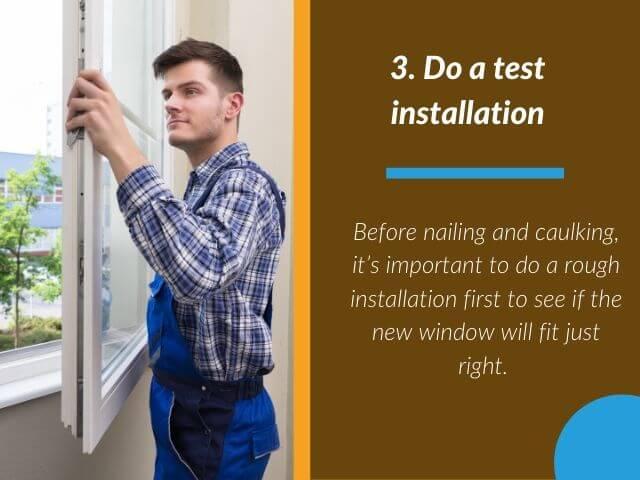 Do a test installation
