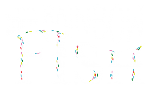 Rainbow Fish on Blue