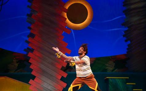 Nathan Barlow in 'Bob Marley's Three Little Birds' photo by Glen Stubbe Photography