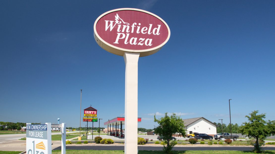 Winfield Plaza sign