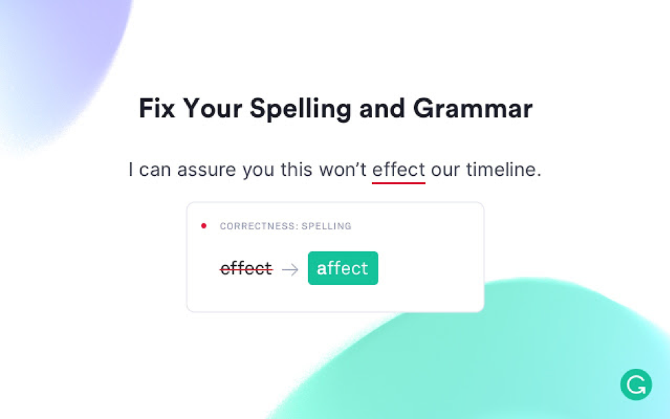 Grammarly spelling correction app