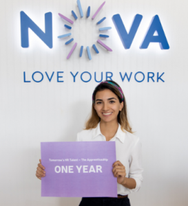 Hannah Jackson Nova HR Talent Apprentice celebrates 1yr
