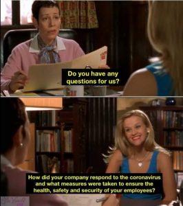 How did your company respond during coronavirus pandemic meme