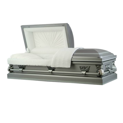 basic casket - antique pewter