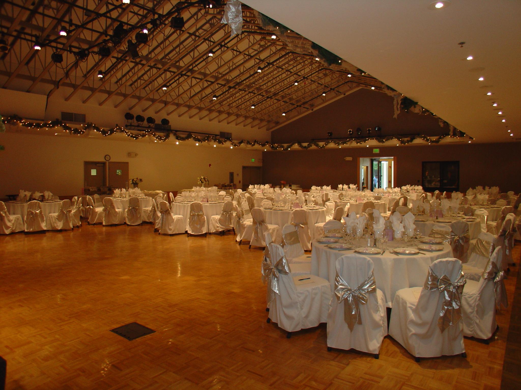 Reception area wedding