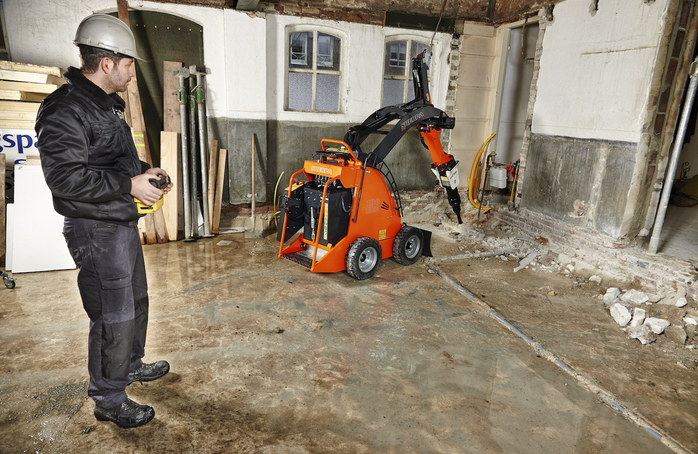 Sherpa 10EHD remote-controlled mini skid steer