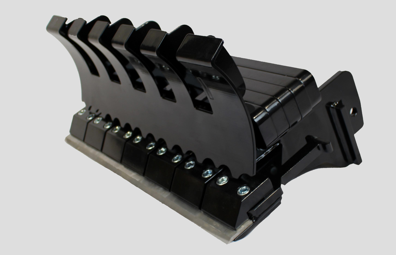 Electric mini skid steer floor scraper attachment