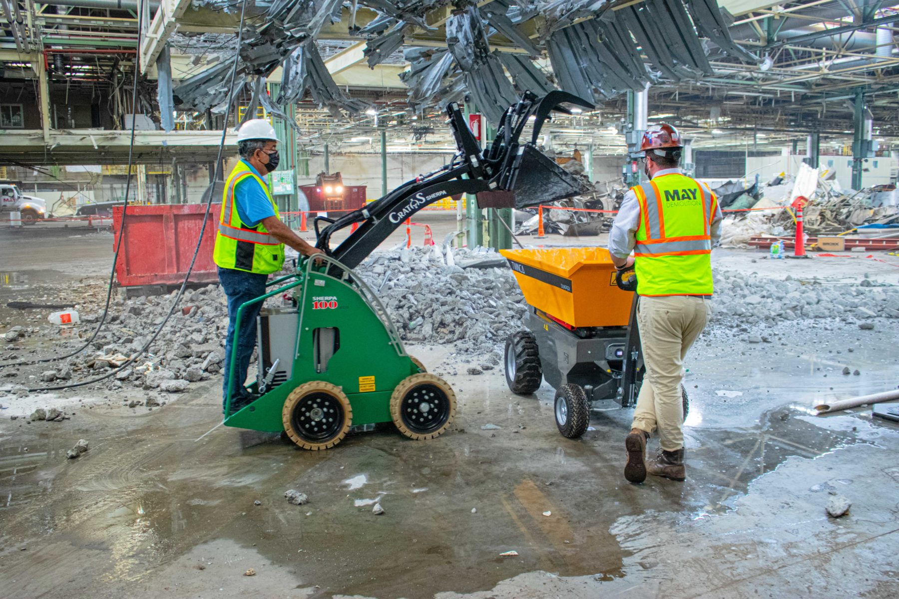 The Electric Skid Steer with Grapple Bucket