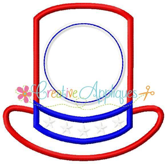 uncle sam hat coloring page - monogram uncle sam hat applique creative appliques