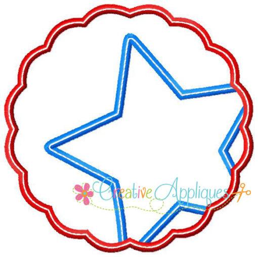Monogram Star In Scallop Applique Creative Appliques