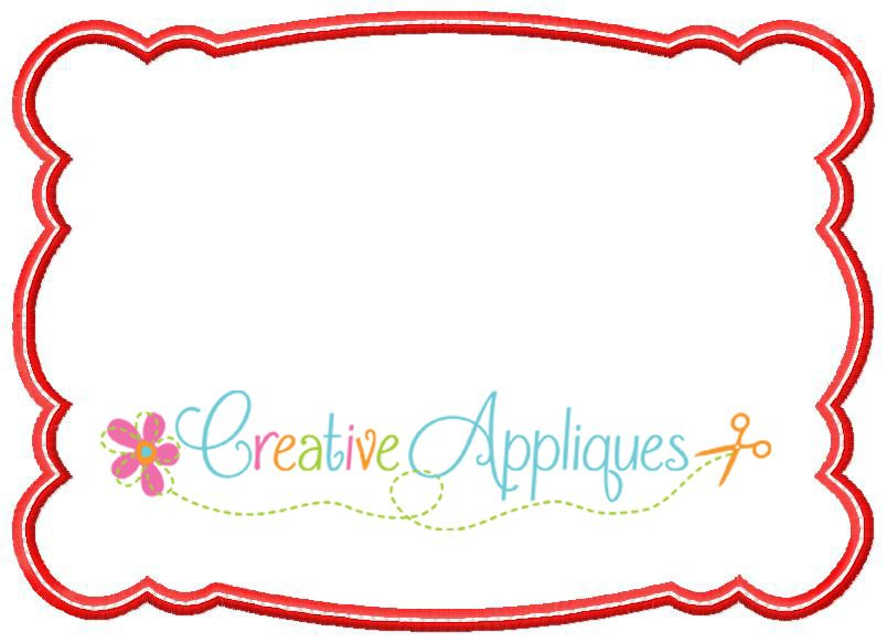 rectangular scallop frame applique