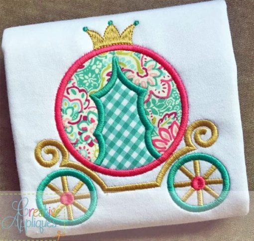 princess-carriage-cinderella-embroidery-applique-design-creative-appliques