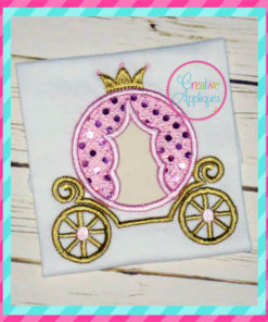 princess-carriage-cinderella-embroidery-applique-design-creative-appliques