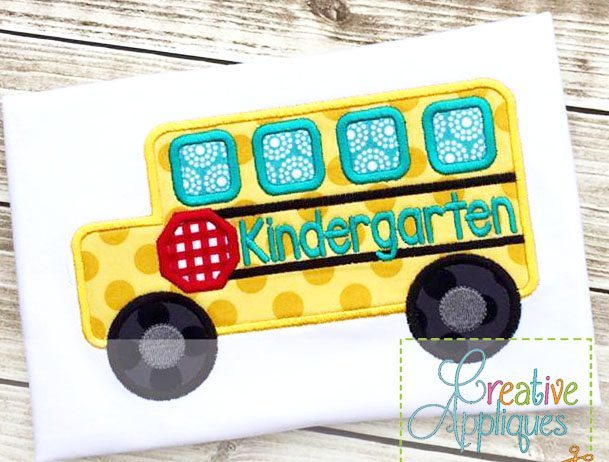 Kindergarten school bus applique creative appliques