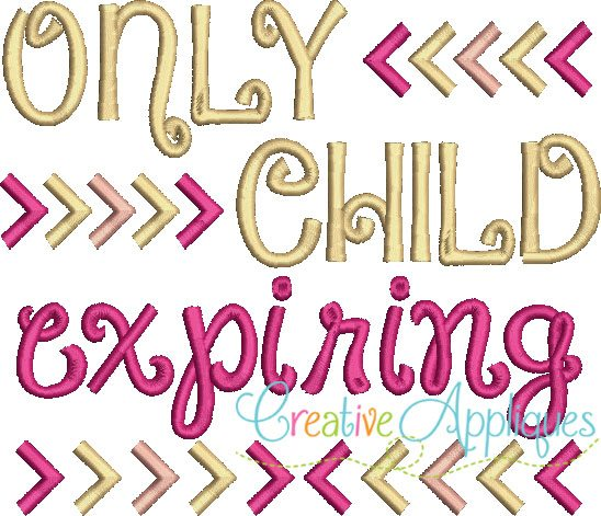 Only Child Expiring Embroidery Applique Creative Appliques