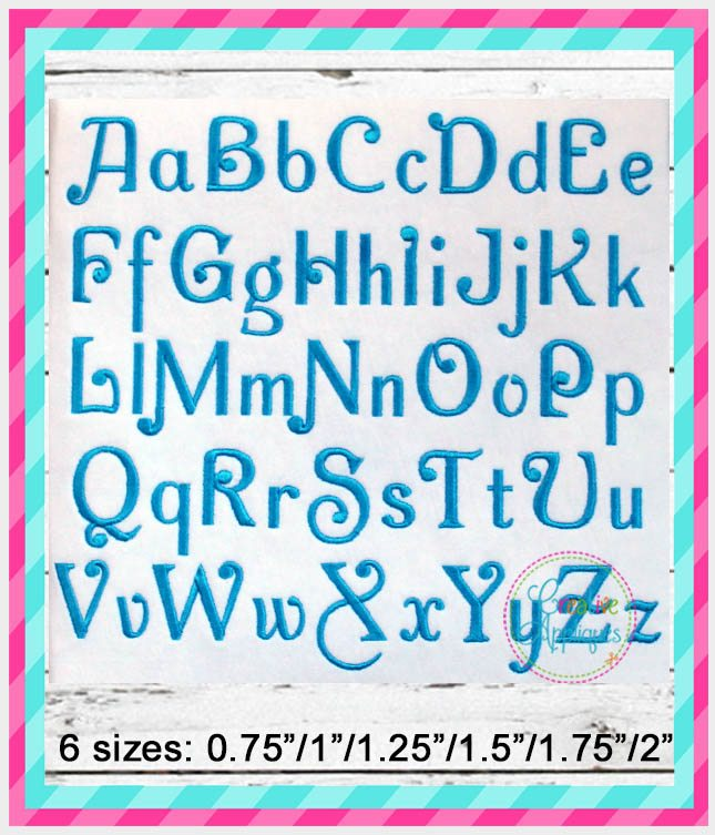 Charming Embroidery Alphabet Font Creative Appliques