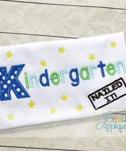 letter a with crown kindergarten nailed it applique creative appliques 8677