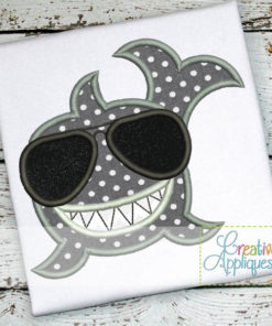 Shark-glasses-Sunglasses-smiling-happy-embroidery-applique-design