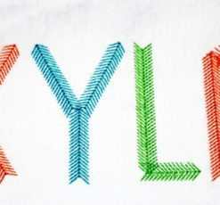 arrow-tribal-feather-embroidery-alphabet-font