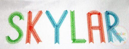 arrow-tribal-feather-embroidery-alphabet-font
