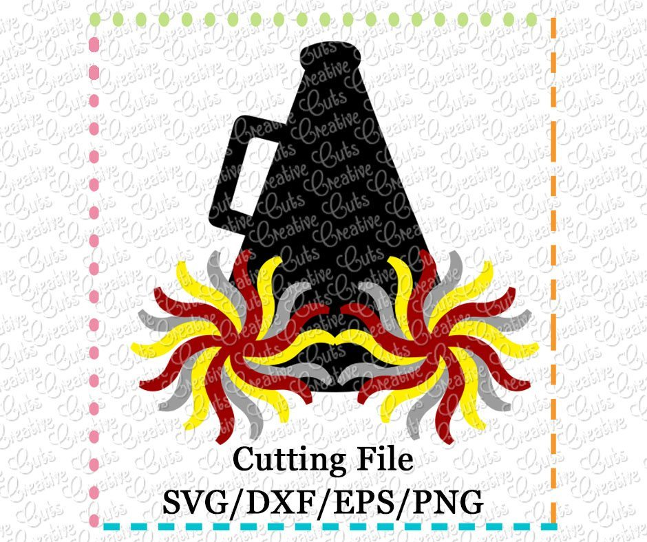 megaphone-pompom-pom-pom-svg-cutting-file-cheerleader-silhouete-cameo-cricut-scan-n-cut