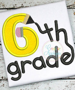 sixth-6th-grade-pencil-embroidery-applique-design