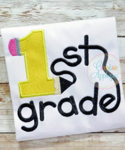 1st-first-grade-pencil-embroidery-applique-design