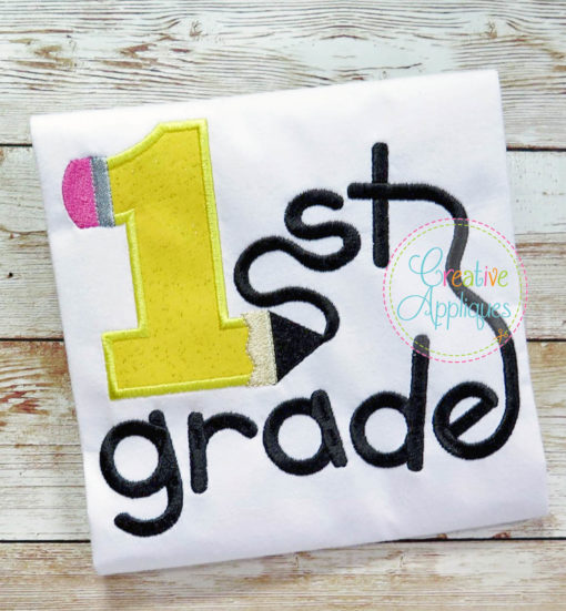 1st-first-grade-pencil-embroidery-applique-design