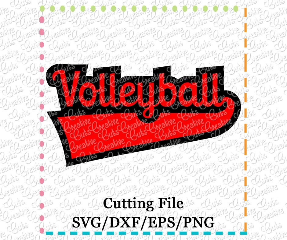 volleyball-cutting file-svg-dxf-eps