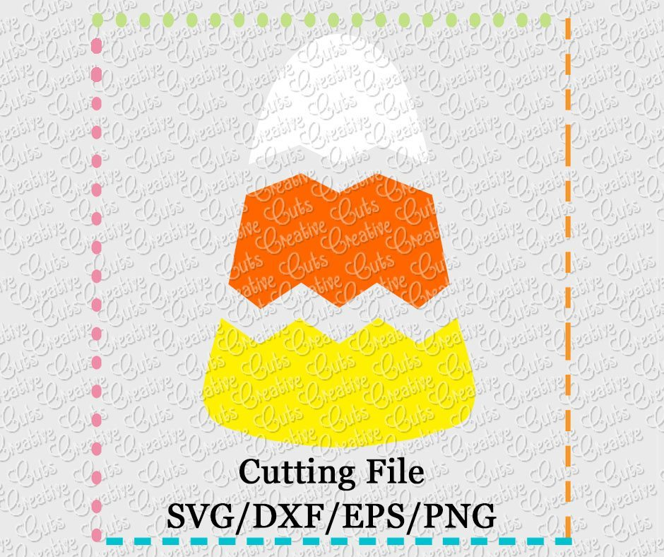Candy Corn Chevron Svg Dxf Eps Png Creative Appliques