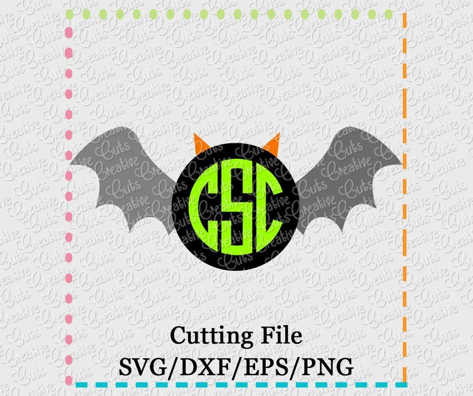 Monogram Bat Svg Dxf Eps Png Creative Appliques