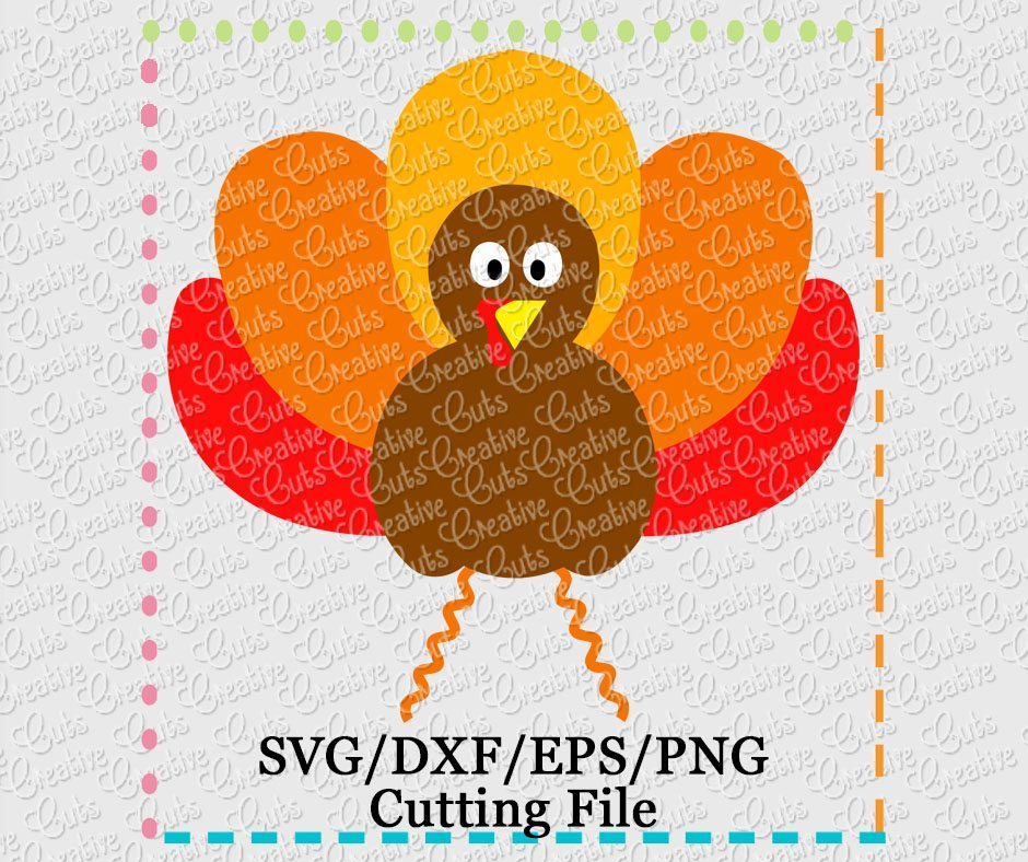 Turkey Cutting File Svg Dxf Eps Creative Appliques