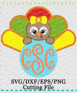 monogram-turkey-girl-svg-cutting-file
