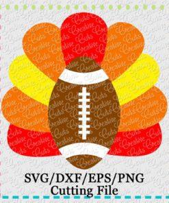football-turkey-svg-cutting-file