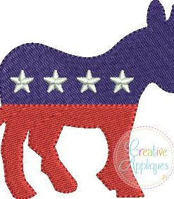 democrat-donkey-miniature-fill-stitch-embroidery