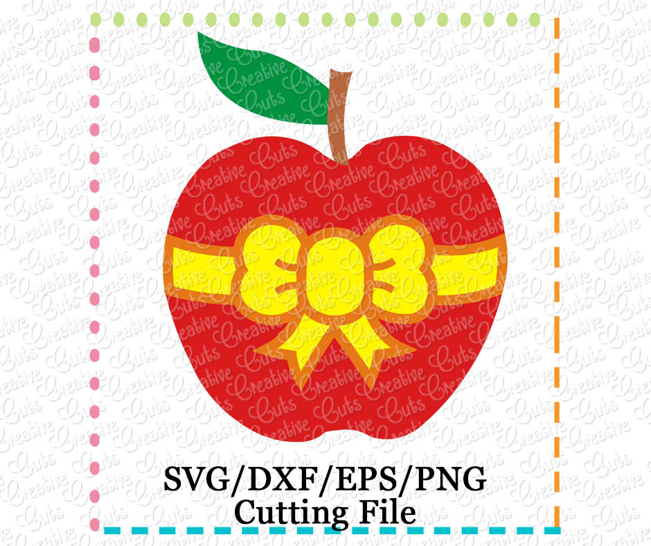 Apple Bow Cutting File Svg Dxf Eps Creative Appliques