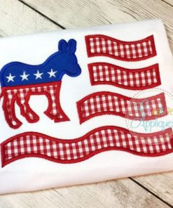 democratic-flag-donkey-embroidery-applique-design