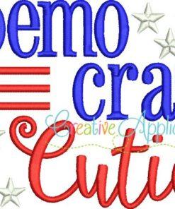 democrat-cutie-embroidery-design