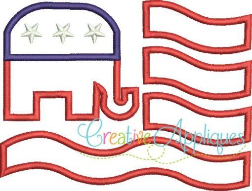 flag-elephant-republican-embroider-applique-design