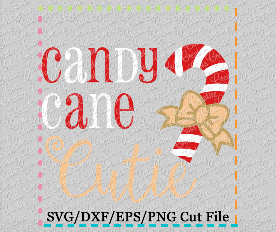candy cane cutie cutting file svg dxf eps