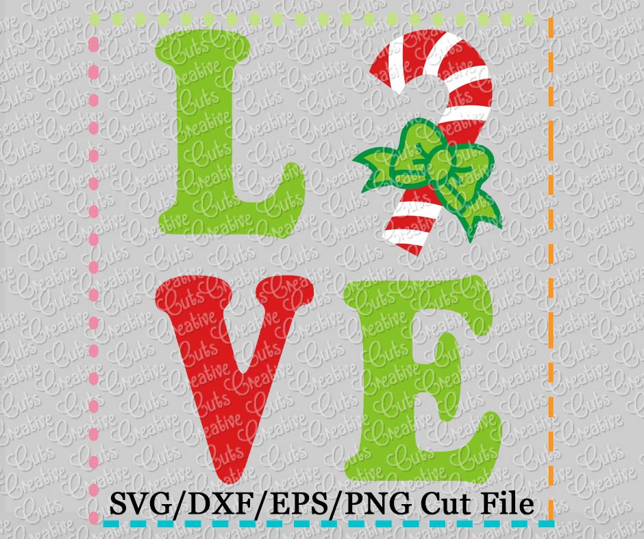 Get Candy Cane, Monogram, Svg Cut File Crafter Files