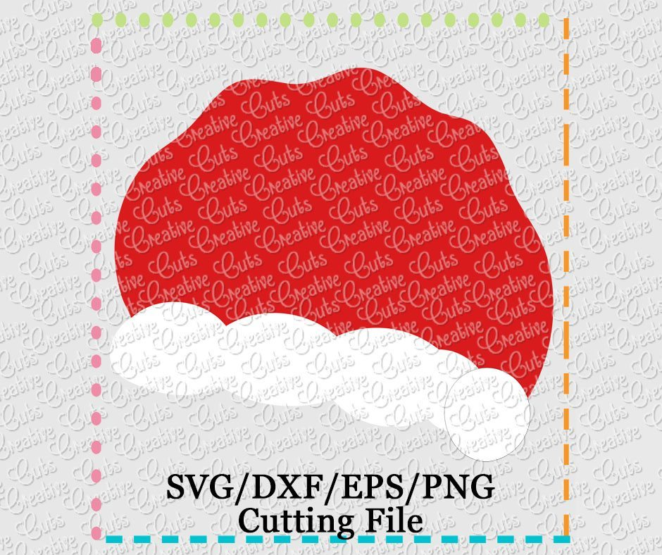 6e55e75e999fa Santa Hat Cutting File SVG DXF EPS - Creative Appliques