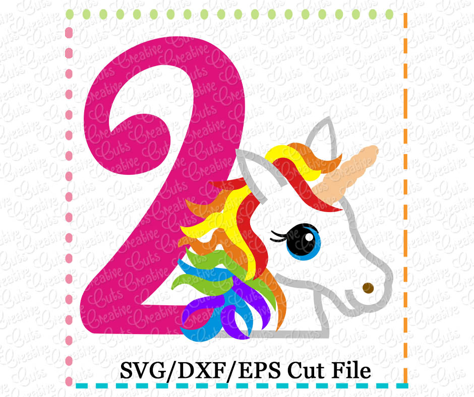 Rainbow Unicorn 3rd Birthday Svg Cutting File Unicorn Svg