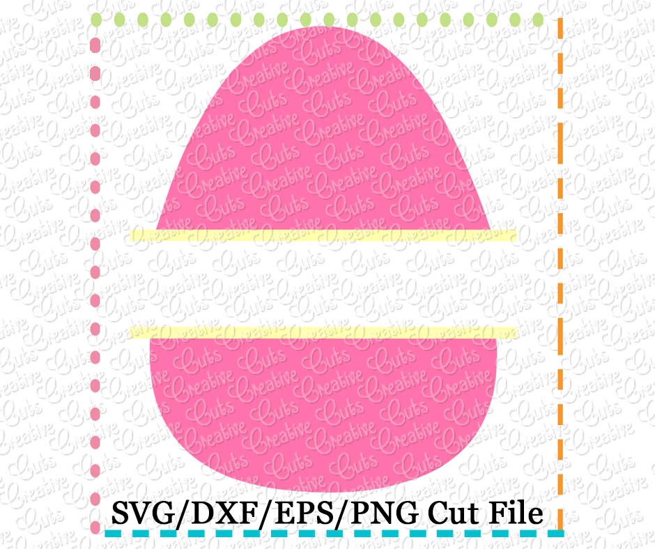 Split Egg Cutting File Svg Dxf Eps Creative Appliques