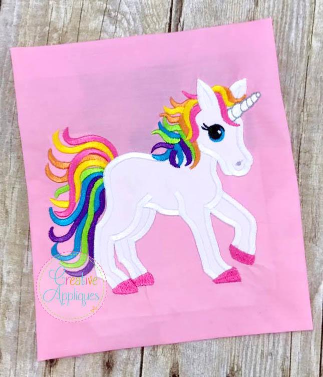 Rainbow Unicorn Applique Creative Appliques,Who Designed The Empire State Building
