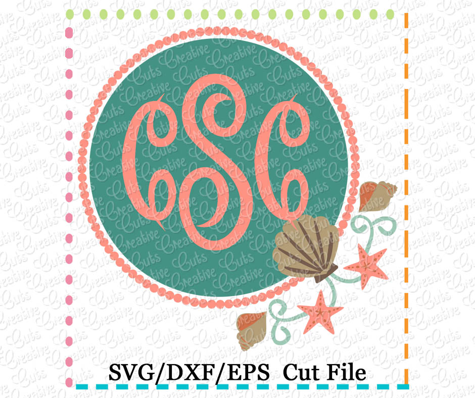 47+ Starfish Monogram – Svg, Dxf, Eps Cut File PNG