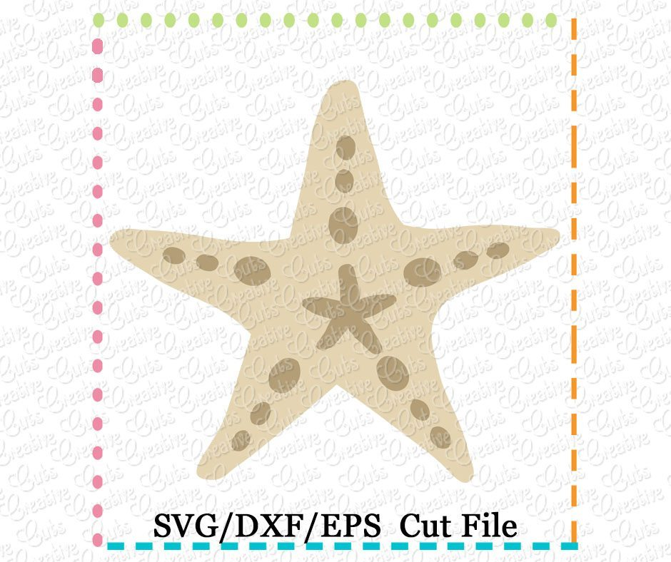 Starfish Cutting File Svg Dxf Eps Creative Appliques