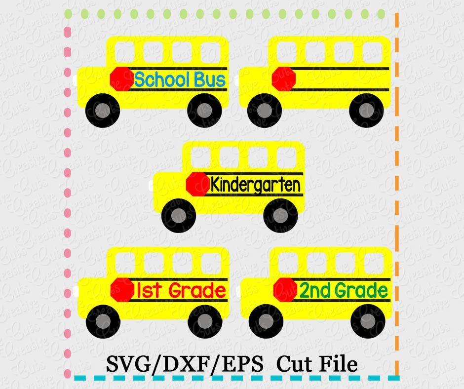 Bus Grade Set Cutting File Svg Dxf Eps Creative Appliques