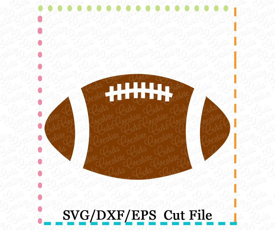 football cutting file svg dxf eps